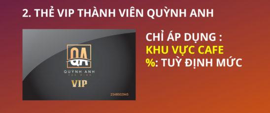 Thẻ VIP Cafe được giảm giá từ 15-20%